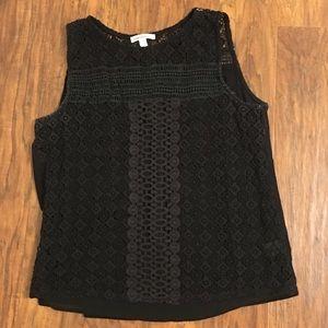 Black lace tank size xl
